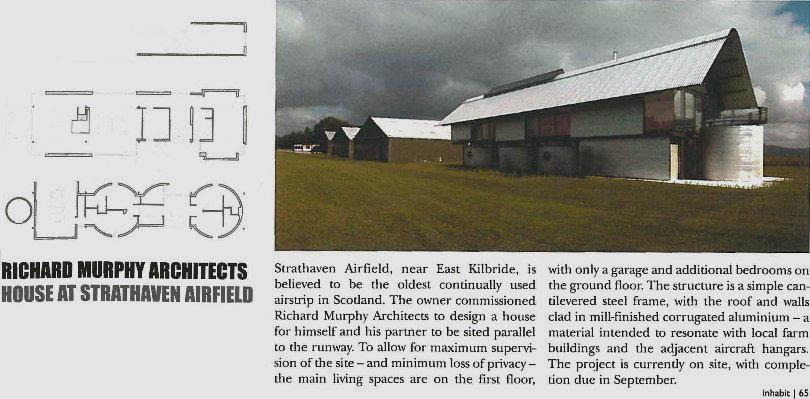 Inhabit magazine article on the House at Strathaven Airfield