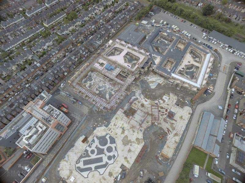 Acute Mental Health facility, Belfast. Aerial view of the site