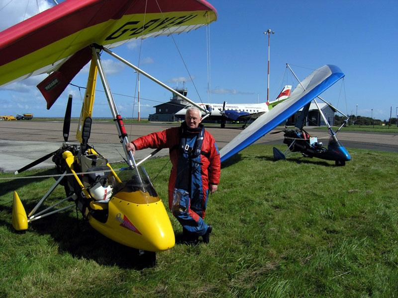 Richard at Wick Airport
